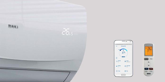 Aire acondicionado BAXI ANORI de alta eficiencia, con control por mando y la app